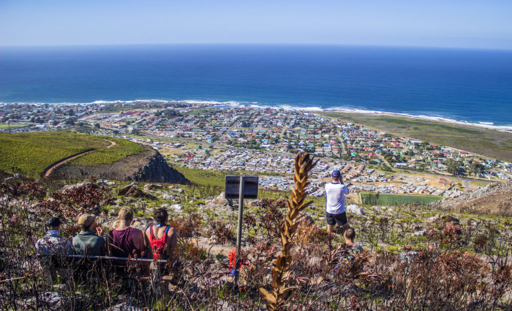 View above Kleinmond