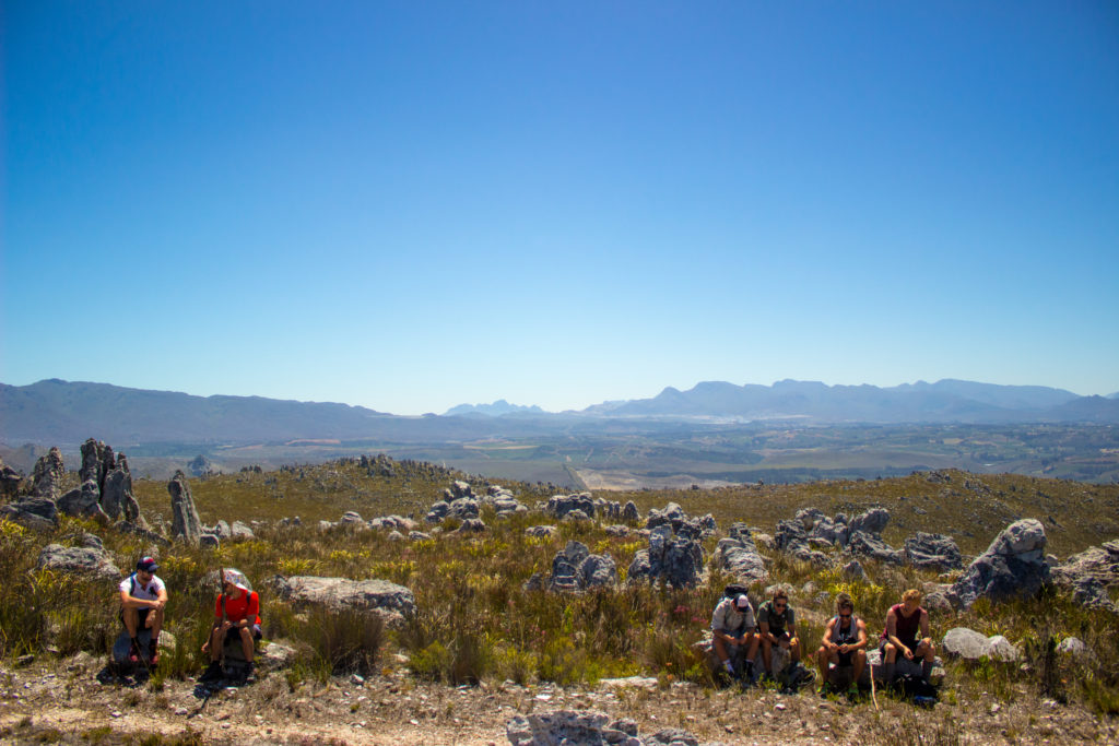 lunch stop on a hike in the overberg