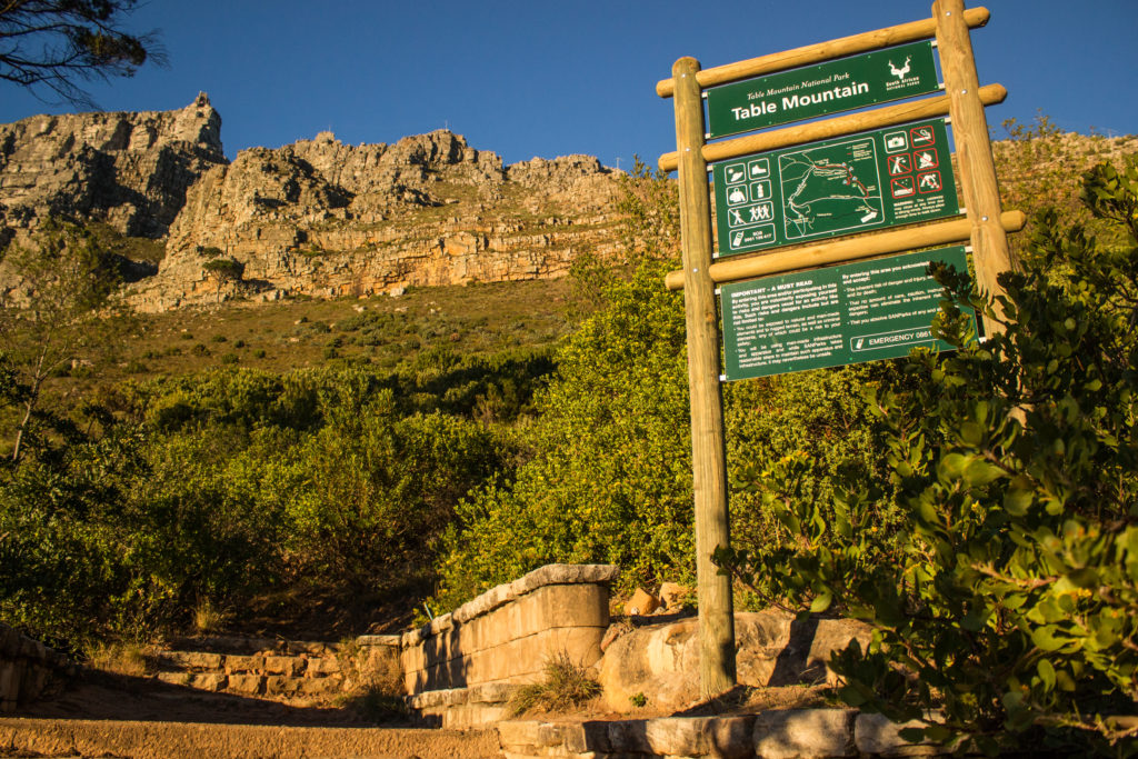 table mountain hike start