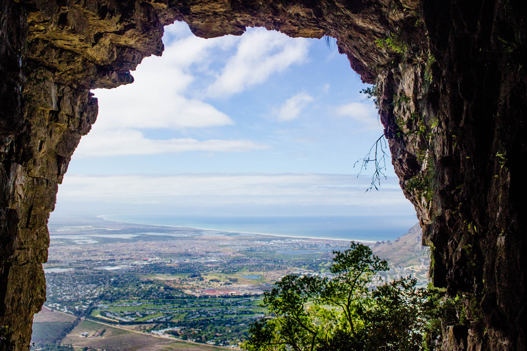 Elephant's eye cave cape town view